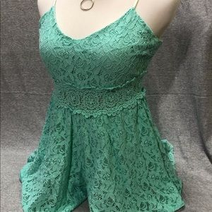 Altar'd state green lace romper